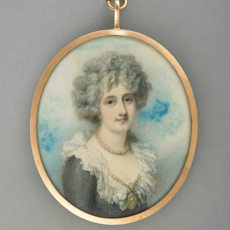 A miniature of the 3rd Marchioness of Hertford