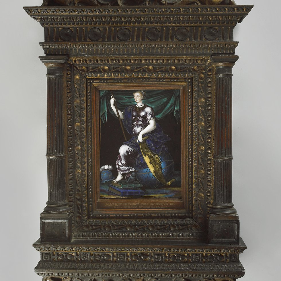 C589 framed, Marguerite de France as Minerva, Jean de Court