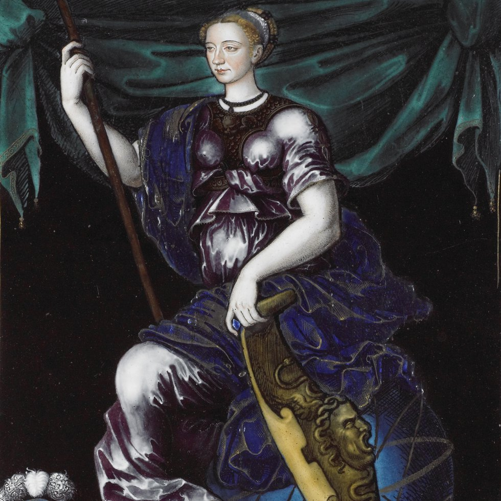 C589, Marguerite de France as Minerva, Jean de Court