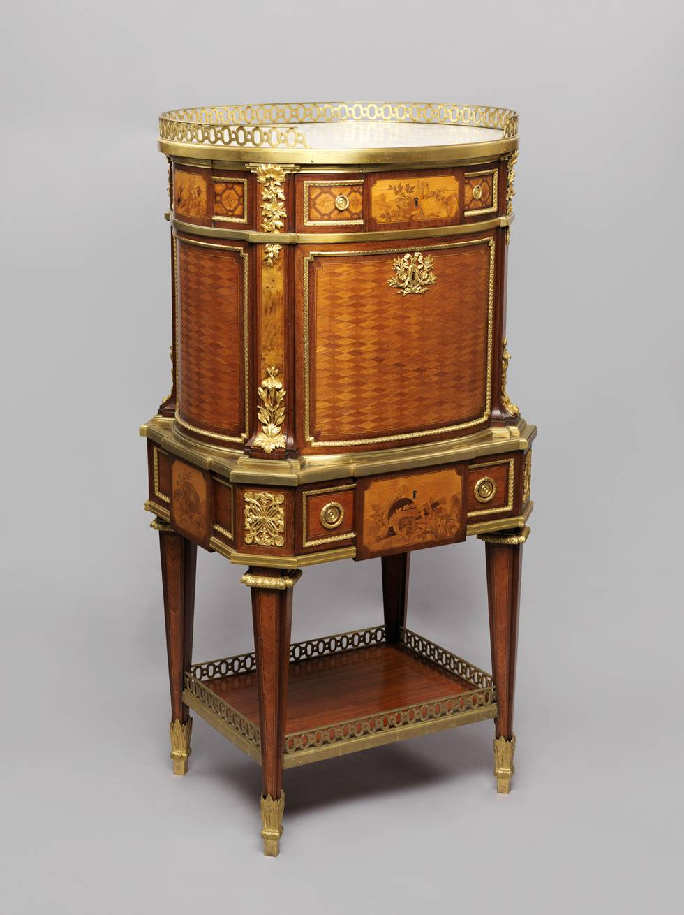 A marquetry writing desk