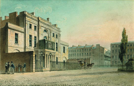 A watercolour of Manchester House (now Hertford House)