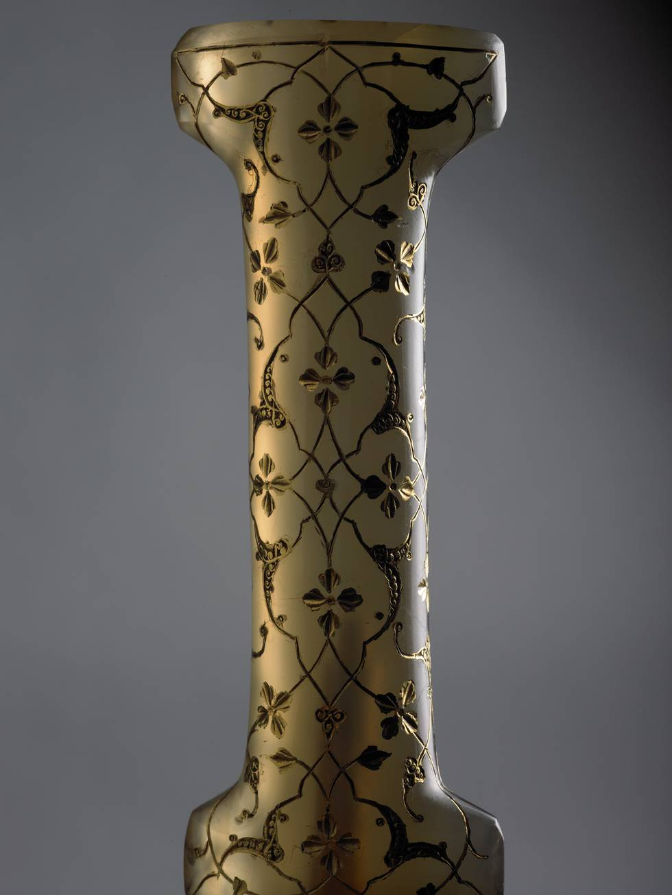 Detail of dagger handle with an inlaid pattern