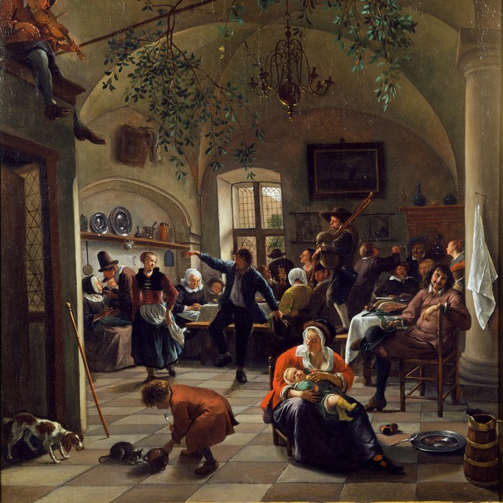 P158, Merrymaking in a Tavern, Jan Steen