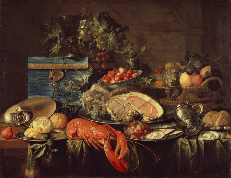 Seventeenth century still life of a banquet table