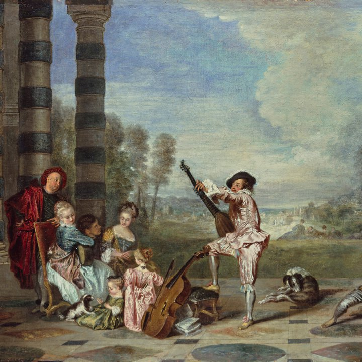 P410, Les Charmes de la vie (The Attractions of Life), Antoine Watteau