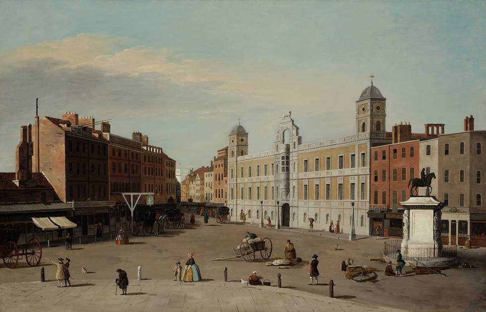 Eighteenth century painting of an area of London