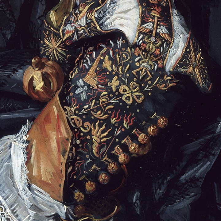 Portrait of sixteenth century embroidered mans arm