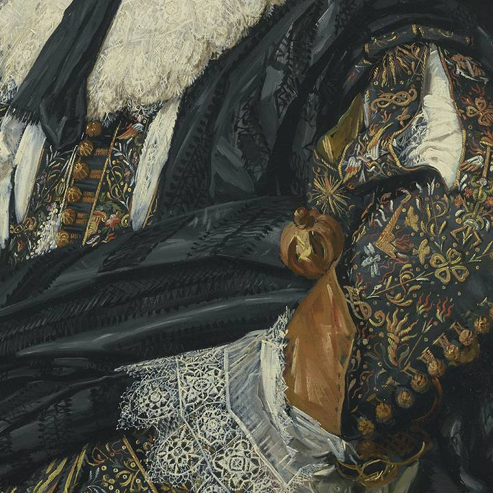 Detail of clothing of sixteenth century man