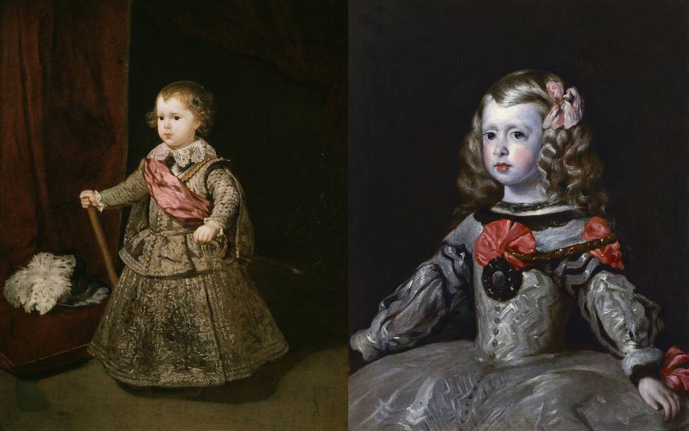 Prince Baltasar Carlos in Silver by Diego Velázquez, 1633, and The Infanta Margarita, after Diego Velázquez, after 1656.jpg