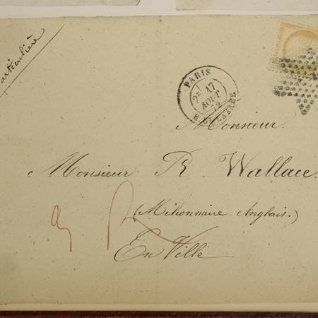 An envelope address to Richard Wallace