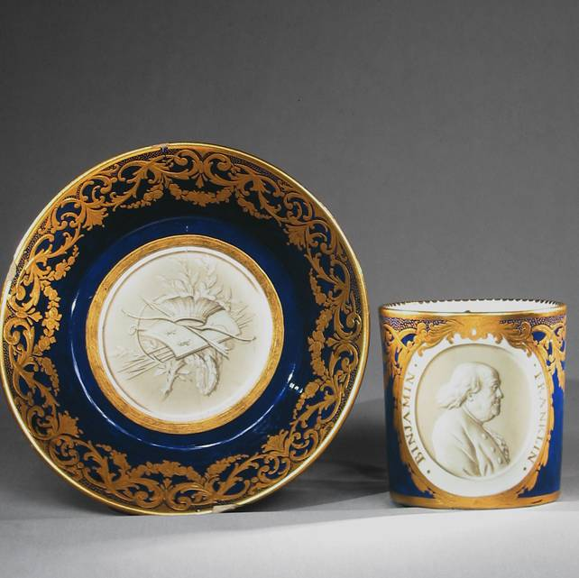 Brief Encounter: A Declaration of Independence Benjamin Franklin and a Sèvres Porcelain Cup