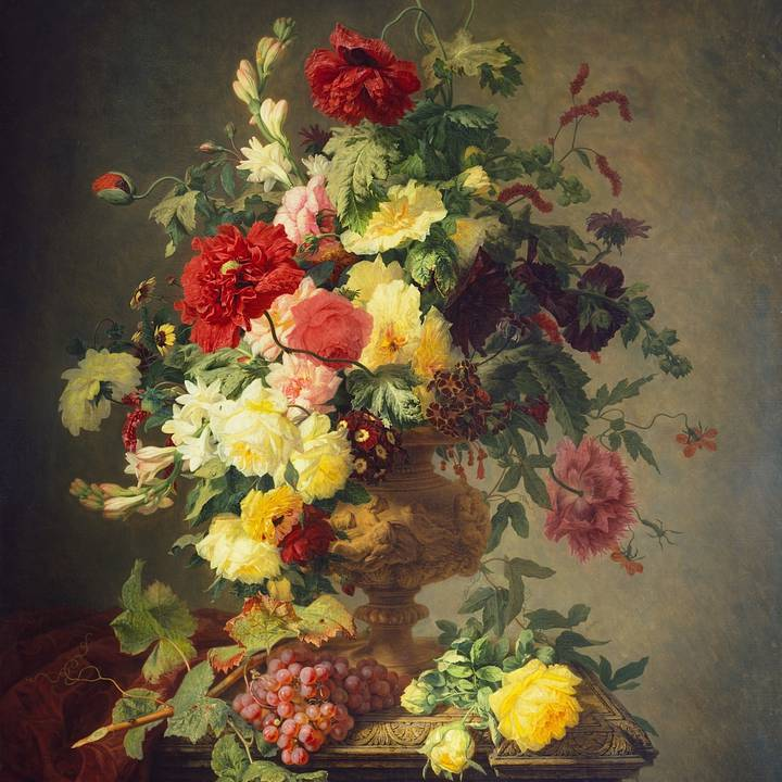 Still life painting of flowers in a pot .jpeg